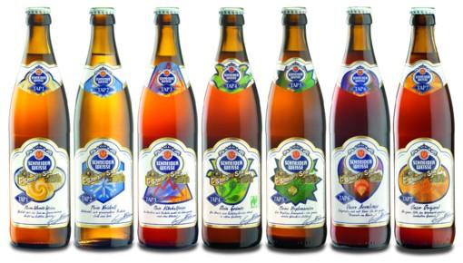 Auswahl der Biere der Weißbierbrauereich Schneider
