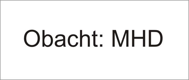 MHD Mindesthaltbarkeitsdatum - Name / Bezeichnung