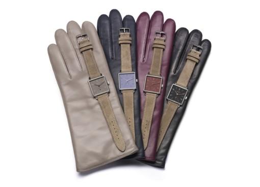 Nomos Tetra Uhren und Handschuhe mit ungewöhnlichen Namen