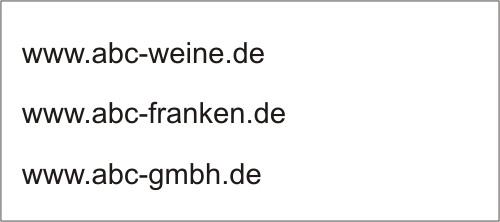 Namenszusätze für Domains