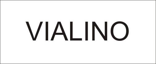 Der Name VIALINO - ausgeschrieben in Druckbuchstaben
