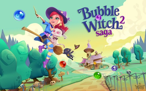 Screenshot der Spiele-App Bubble Witch Saga 2