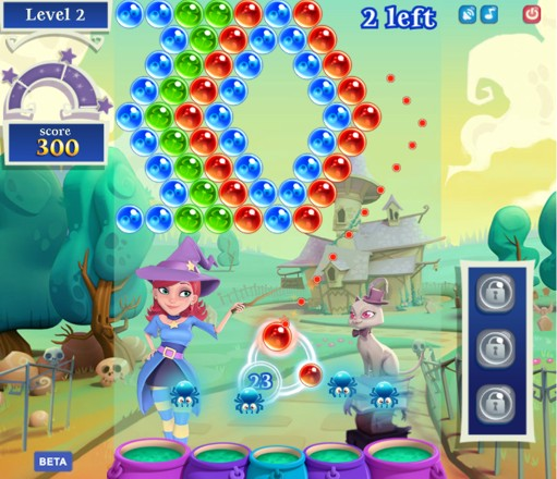 Screenshot der Spiele-App Bubble Witch