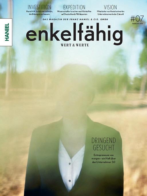 """Titelblatt Magazin """"enkelfähig Wert & Werte"""" von Haniel"""