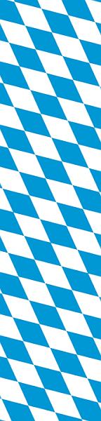 Bayernrauten Symbol für Bairisch weiß-blau