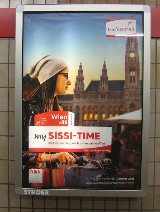 My Sissi-Time Plakatwerbung Wien mit missverständlichem Namen