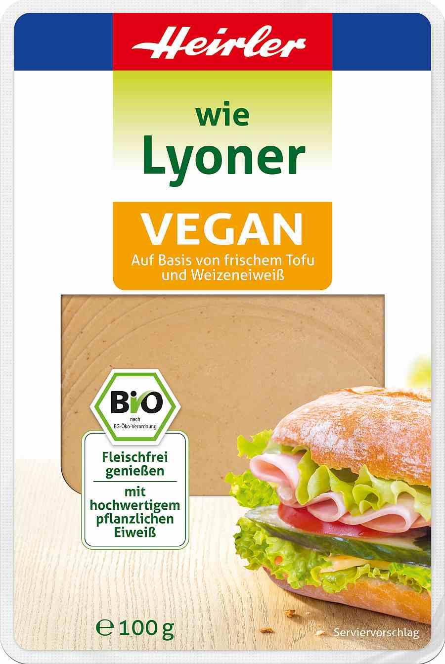 """Heirler vegane Wurst """"wie Lyoner"""""""
