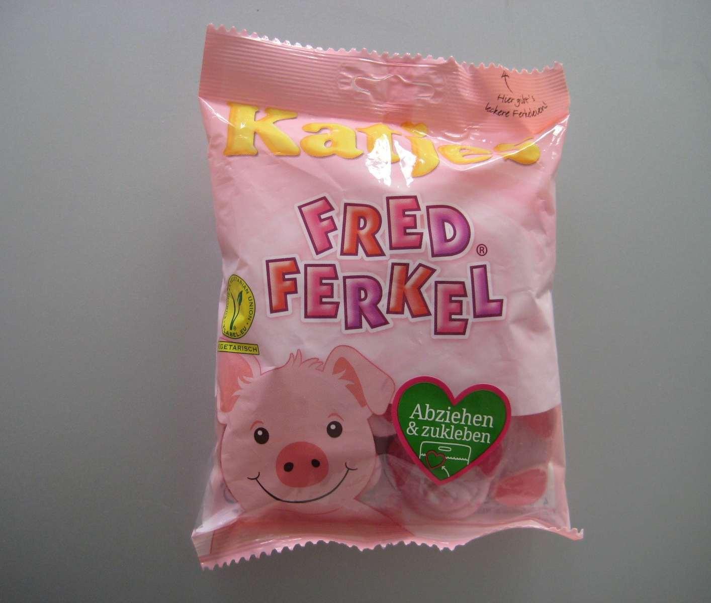 Fred Ferkel Gummibonbons von Katjes Packung