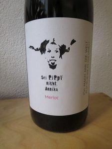 Wein Annika Pippi Merlot - Etikett
