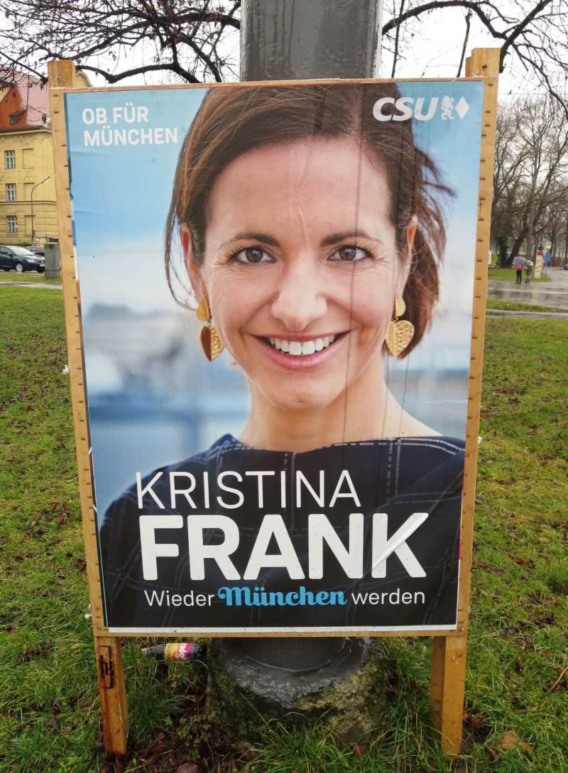 Kristina Franks Slogan Wieder München Werden