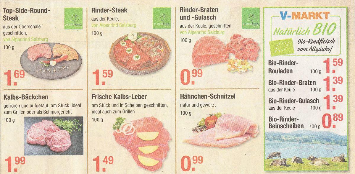Alpenrind Angebot beim V-Markt München